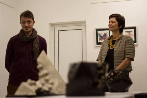 Raphail Georgiev et Nina Mircheva lors du vernissage